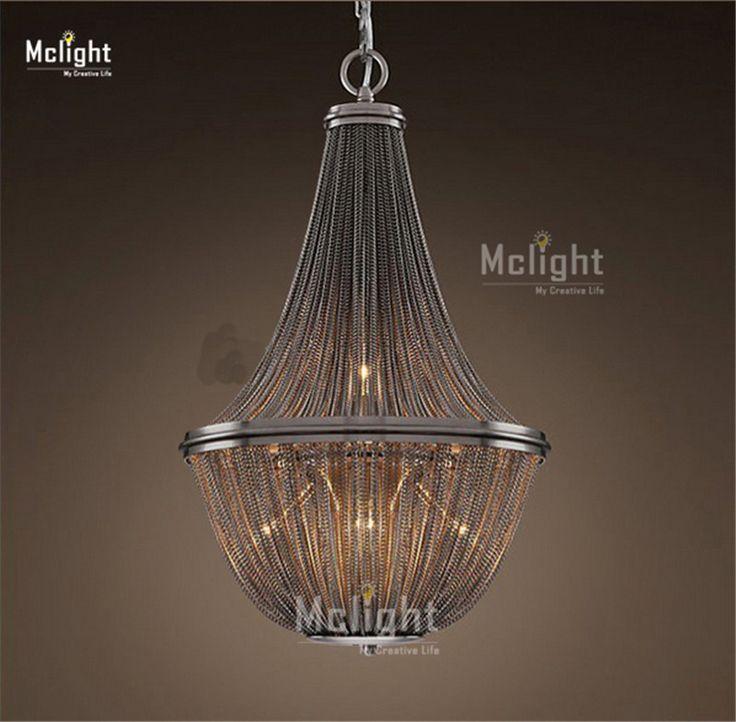 Post Modern French Chain Chandelier Light Fixture Empire Vintage Hanging Suspension Lustre Lamp Light Kroonluchter Chandeliers