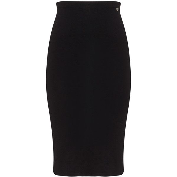 Mat Black Plus Size Jersey pencil skirt ($51) ❤ liked on Polyvore featuring skirts, black, plus size, plus size pencil skirt, plus size jerseys, knee length pencil skirt, plus size skirts and womens plus size skirts