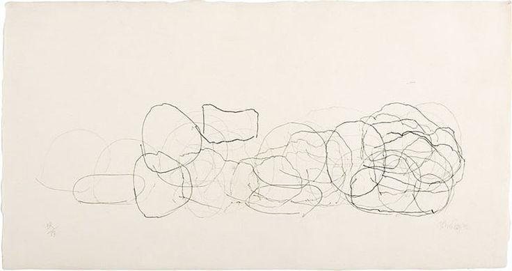 John Cage (1912-1992), Where R = Ryoanji (3R/17), 1992, Pencils on handmade Japanese paper, 25.4 x 48.3 cm, The John Cage Trust, Red Hook, New York, Photo: David Heald/SRGF, New York, © The John Cage Trust at Bard College.