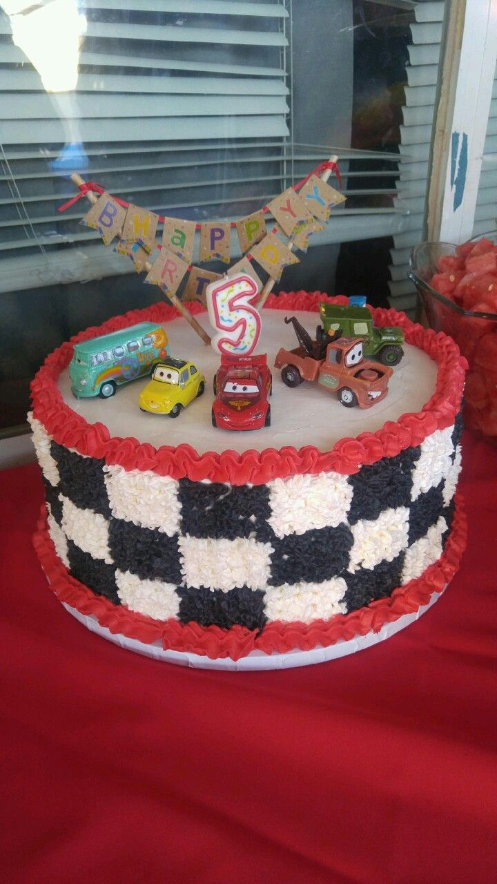 Birthday Cake Disney Cars Cake And Of Course Is Homemade