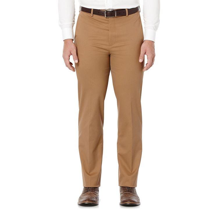 Men's Savane Executive Khaki Straight-Fit Performance Pants, Size: 30X30, Med Brown