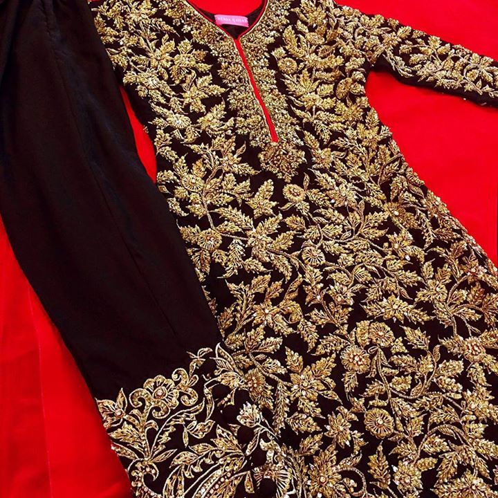 Full embroided exquisite shirt piece! Custom made availaible at Royal Threads Boutique. To order whatsapp at +919646916105