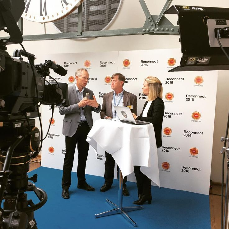 """The live webcast from our internal event """"Reconnect"""" was filled with interesting content. Here is Noel Morrin, our EVP Sustainability, and the Global Sustainability Expert Johan Rockstöm being interviewed by Anna Ronander."""