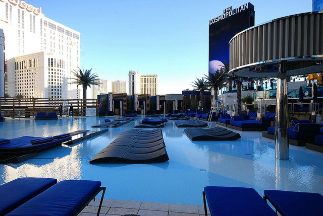 The Pool Area at the New Cosmopolitan Hotel in Las Vegas by merriewells, via Flickr
