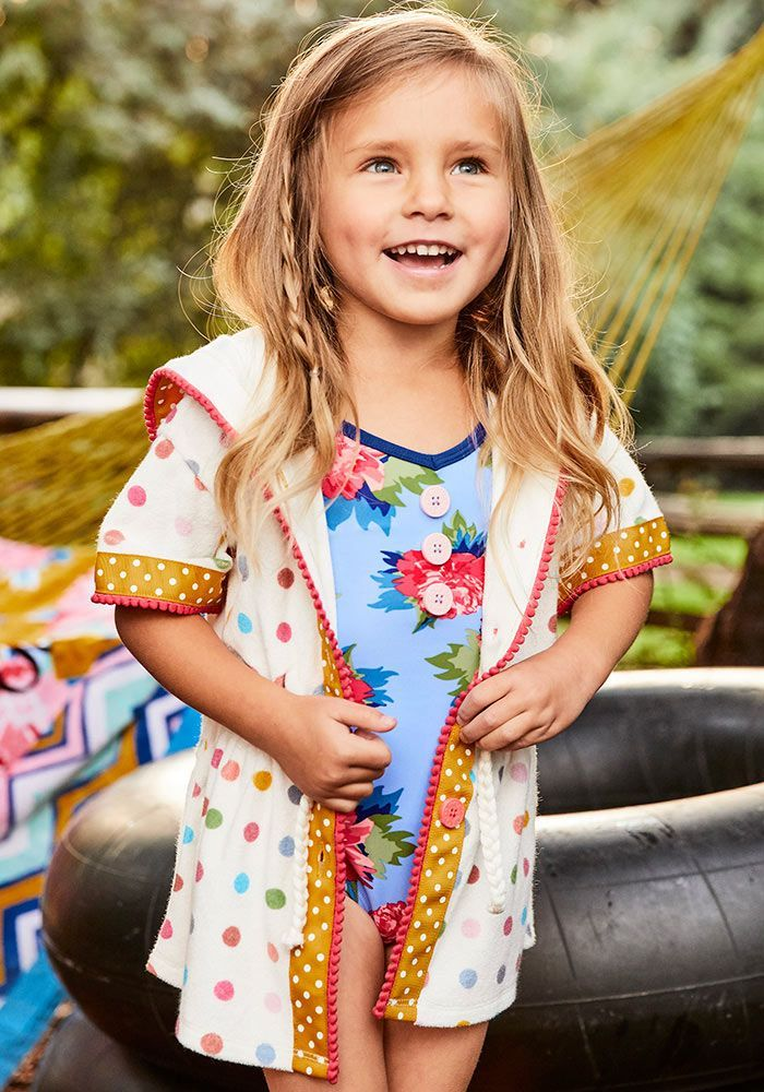 9632b1d30085 Sunfish Cover Up - Matilda Jane Clothing - With the sweetest of  water-colored polka dots