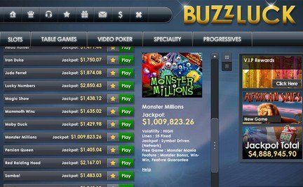 Buzzluck casino instant play