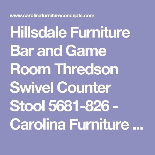 Hillsdale Furniture Bar and Game Room Thredson Swivel Counter Stool 5681-826 - Carolina Furniture Concepts - Arden in Asheville, Waynesville, North Carolina,Near Atlanta,Charlotte