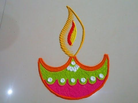 Diwali special Deep jyot rangoli design. by DEEPIKA PANT - YouTube