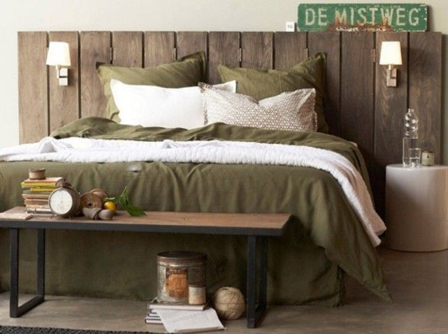 15 t tes de lit pour tous les styles bedroom designs interiors and bedrooms - Palette bois tete de lit ...
