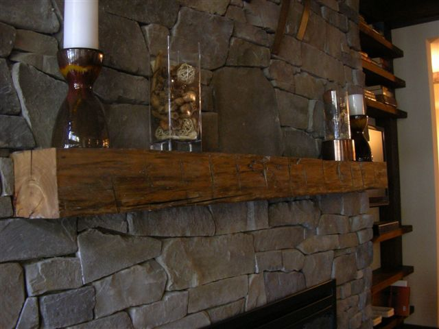 Natural Wood Mantels For Fireplaces How To Hang A Barn Beam Mantle Without Corbels | Fireplace
