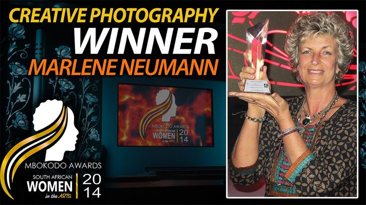 Marlene Neumann was recently acknowledged as South Africa's top woman photographer in the Creative Photography category at the Mbokodo Awards. This prestigious event honours women who have excelled in the field of arts and culture.  Learn more about this inspirational woman at www.marleneneumann.com