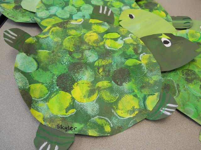 PAINTED PAPER: Under the Sea with Picasso and Me- Turtles and Tints