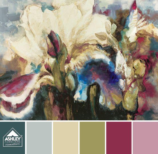 Beautiful Floral Painting Wall Art Aisha