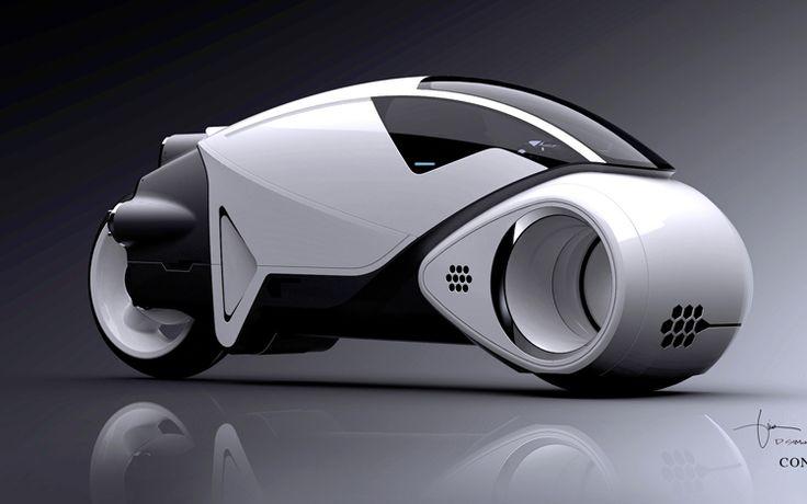 Bugatti Motorcycle | former Bugatti designer recreates Light Cycle Vehicles for Tron:Legacy