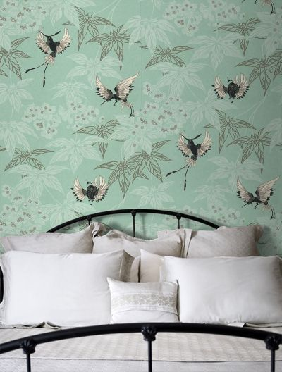 osborne little grove garden wallpaper w5603 03 duck egg. Black Bedroom Furniture Sets. Home Design Ideas