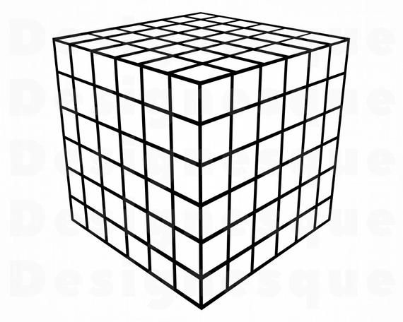 Tetracube Outline Svg Rubik S Cube Svg Rubik S Cube Etsy Rubiks Cube Cube Svg