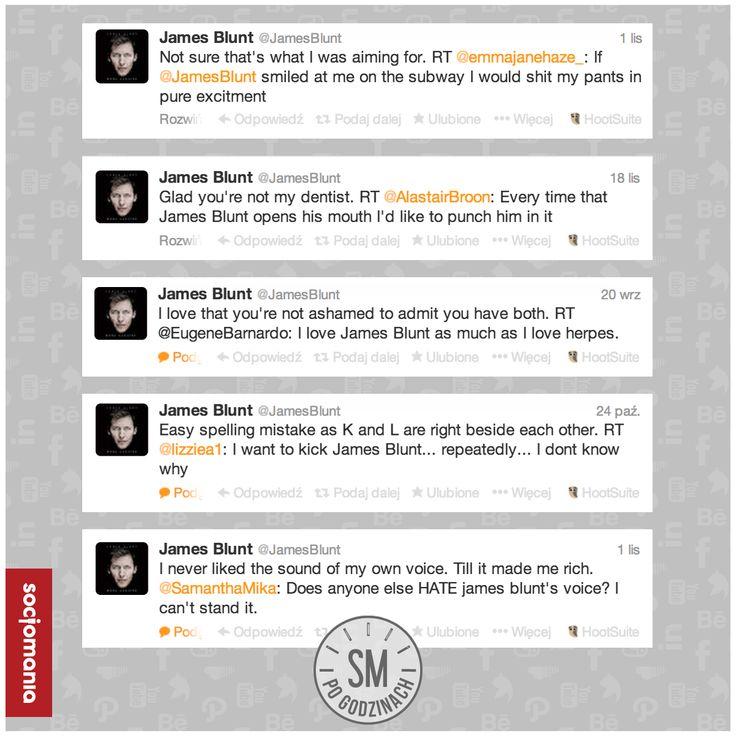 #JamesBlunt - Pan cięta riposta!