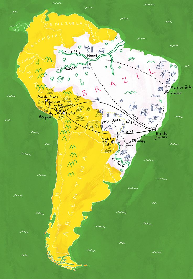 Dominic Trevett Map of Brazil 1321