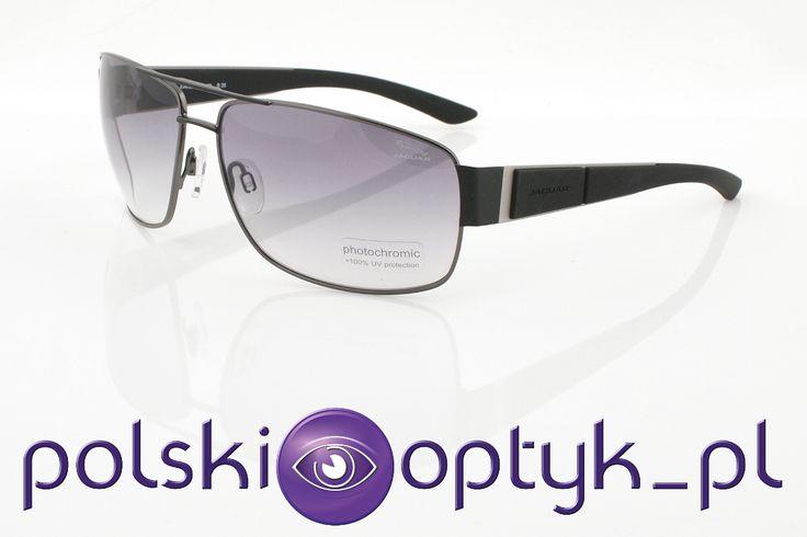 Okulary przeciwsłoneczne męskie Jaguar 37542 420 #okulary #glasses #eyewear #eyeglasses #oprawki #sunglasses #jaguar