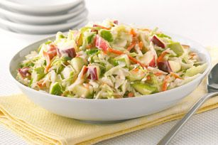 My mom always made coleslaw with apples and no other kind tastes as good!