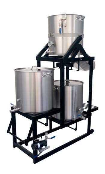 MoreBeer BrewSculptures. They offer gravity, Tippy, and flat brew sculptures for systems ranging from 5 to 20 gallons.