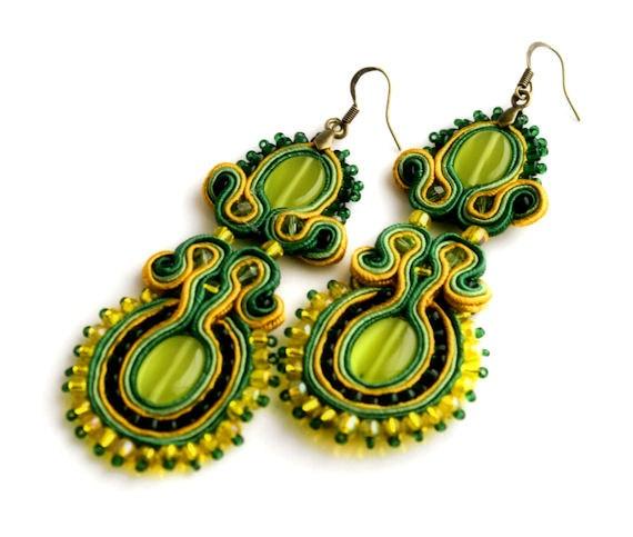 Soutache earrings by KimimilaArt