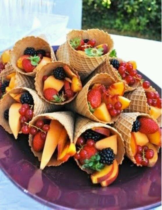 School morning tea fruit waffle cups