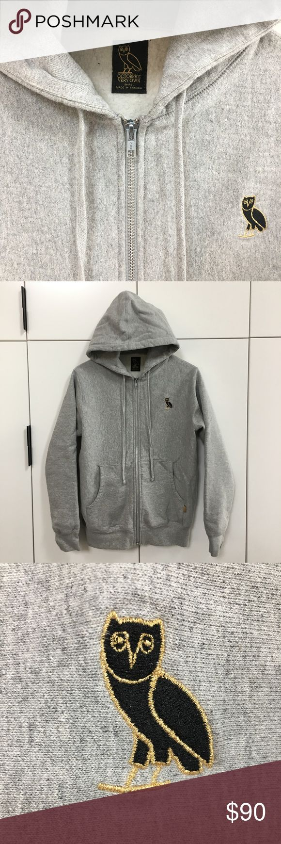 """OVO (Drake) New logo zip hoodie - Men's SMALL Authentic OVO """"October's Very Own"""" by Drake. Men's Small. Hooded full zip sweatshirt. Never worn. New condition. Purchased at the OVO store in Los Angeles, CA. OVO - October's Very Own Shirts Sweatshirts & Hoodies"""