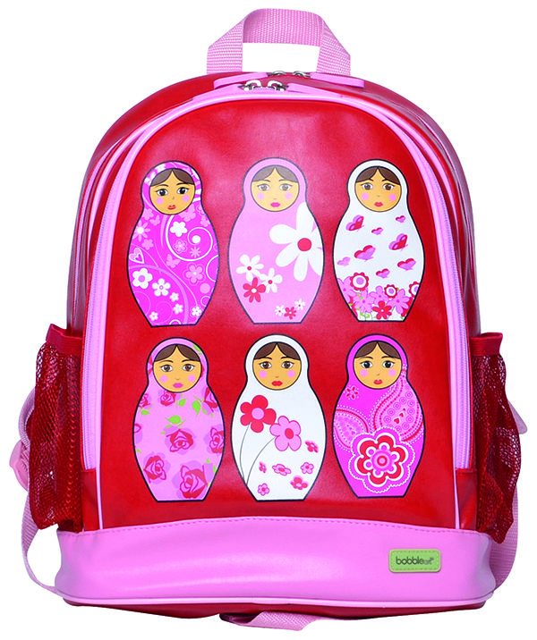 Large PVC Backpack - Babushka. These gorgeous #BobbleArt #kidsbackpacks are perfect for a day out, pre-school or daycare.... big enough to fit all the necessities a little one needs. #forkids#schoolbags