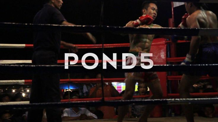 Muay Thai Boxing Fight Outdoor Ring Combat Sport Thailand - Stock Footage | by RyanJonesFilms
