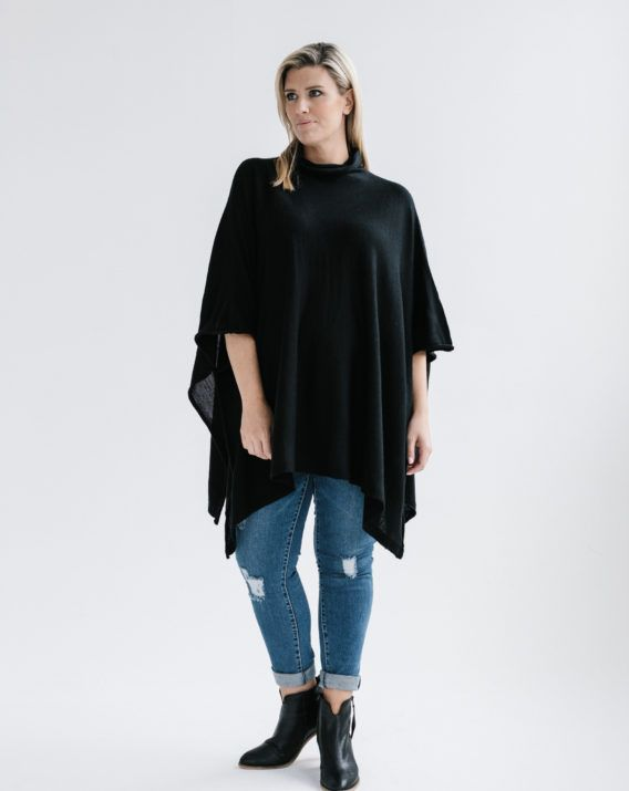Mystic Swing Cape - Black - Blossom & Glow