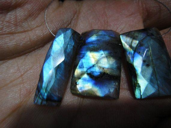 56 Ct's LABRADORITE Gemstone Size: 13-27x15x25.mm by manzoorgems