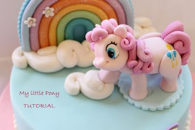 Tutorial on how to make a My little Pony Cake Topper in Fondant or Gumpaste