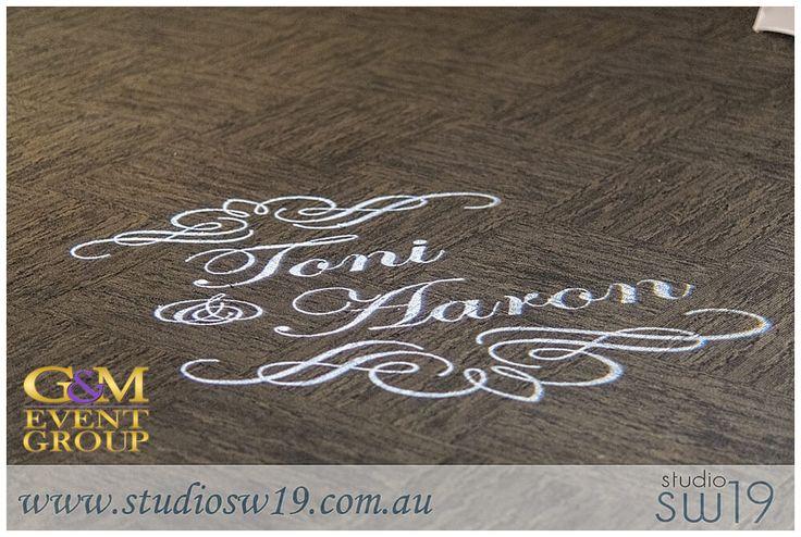 Brisbane Golf Club Aaron&Toni - Custom Monogram || G&M Event Group Wedding DJs & Lighting Design #brisbanewedding || Photo taken by @studiosw19