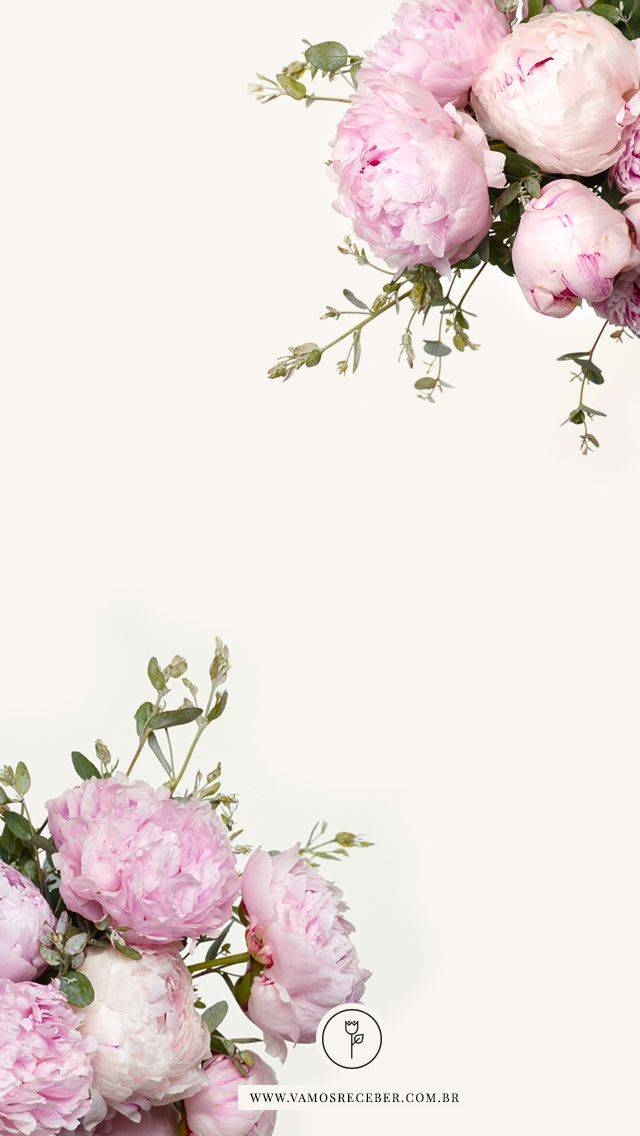 Blush pink floral peonies flowers iphone phone background ...