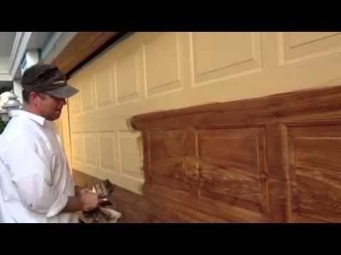Faux Woodgrain On A Metal Garage Door. Use A Yellow Or Orange Low Sheen Base