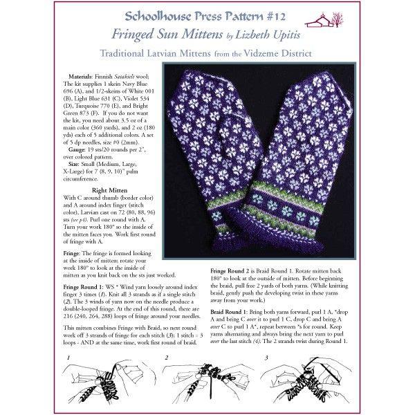 Schoolhouse Press - Latvian Mittens - SPP12 - Patterns