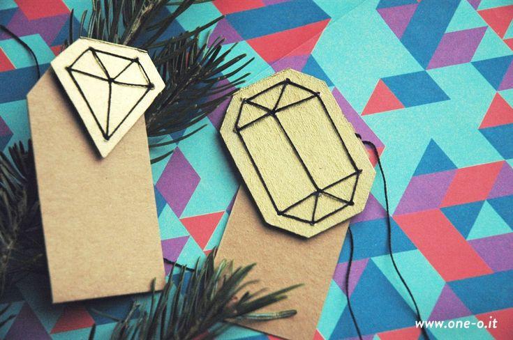 DIY: gem gift tag