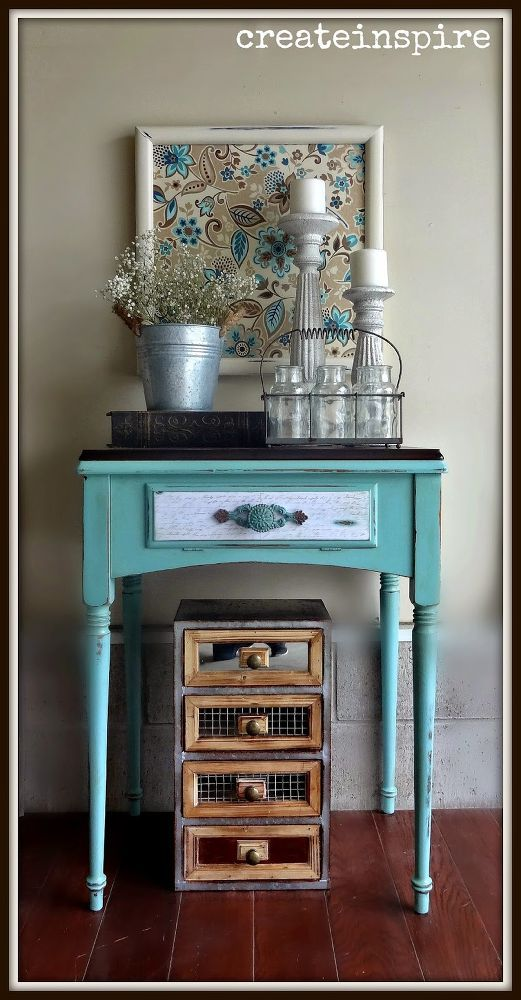 Upcycled Antique Sewing Machine Table