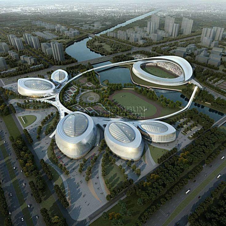 Les 1020 meilleures images du tableau spacextreme sur for Architecture futuriste