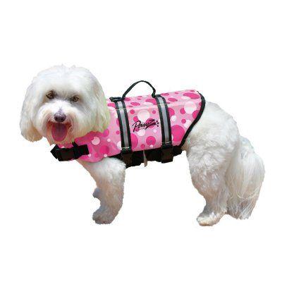 Pawz Pet Nylon Pink Bubbles Dog Life Jacket - PP-ZP1100, Durable