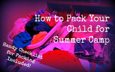 Great tips to make packing for overnight summer camp easier!