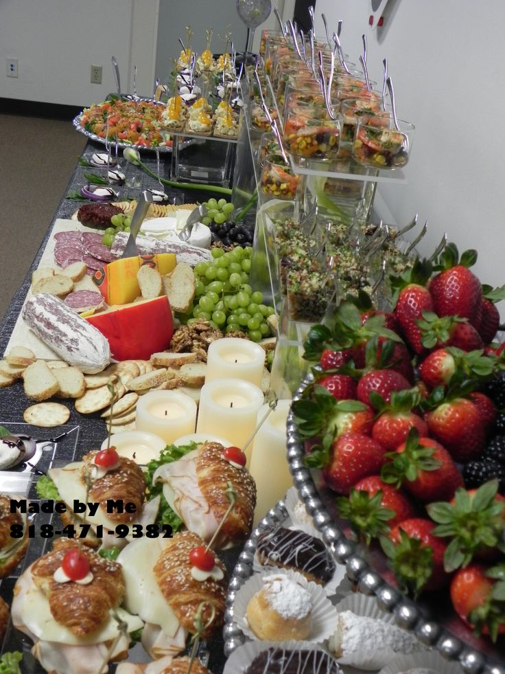 real estate office grand opening food finger food catering fruits cheese