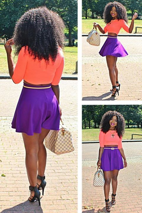 Have been looking for a purple skater skirt outfit.