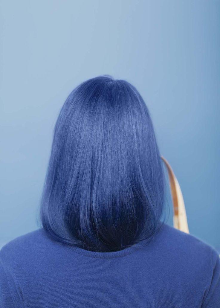Les cheveux bleus !