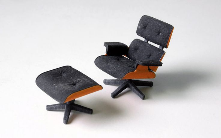3D printed eames lounge chair by kevin spencer