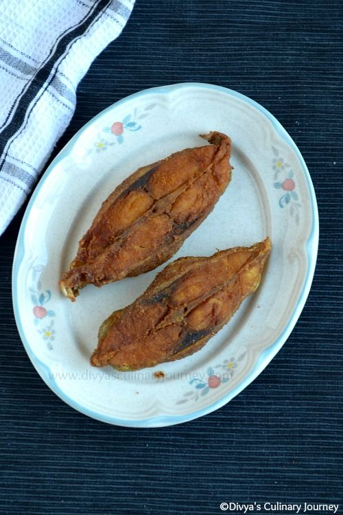 Fish Fry- South Indian style. Easiest method to prepare delicious fried fish with few ingredients.