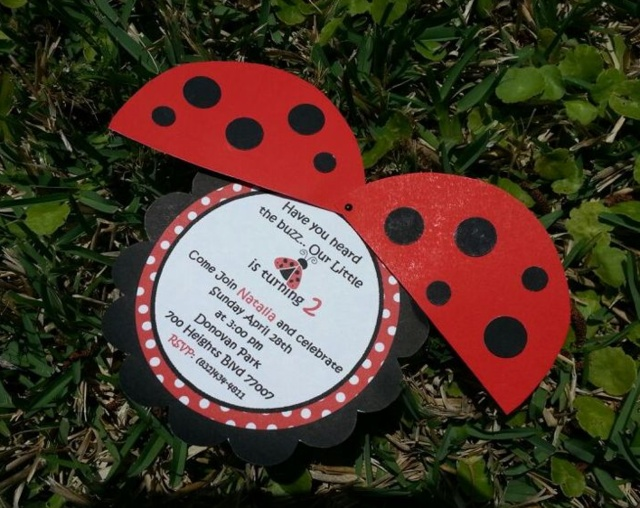 ladybug birthday invite- omg I love these!