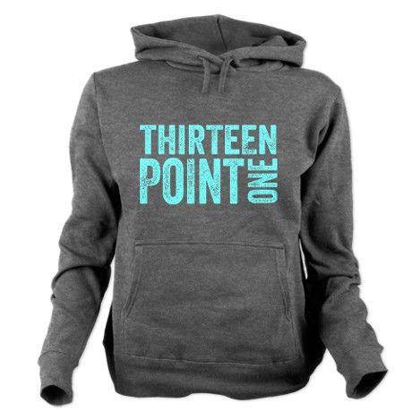 Thirteen Point One. 13.1. Half-Marathon. Hooded Sweatshirt #hoodie #running #motivation