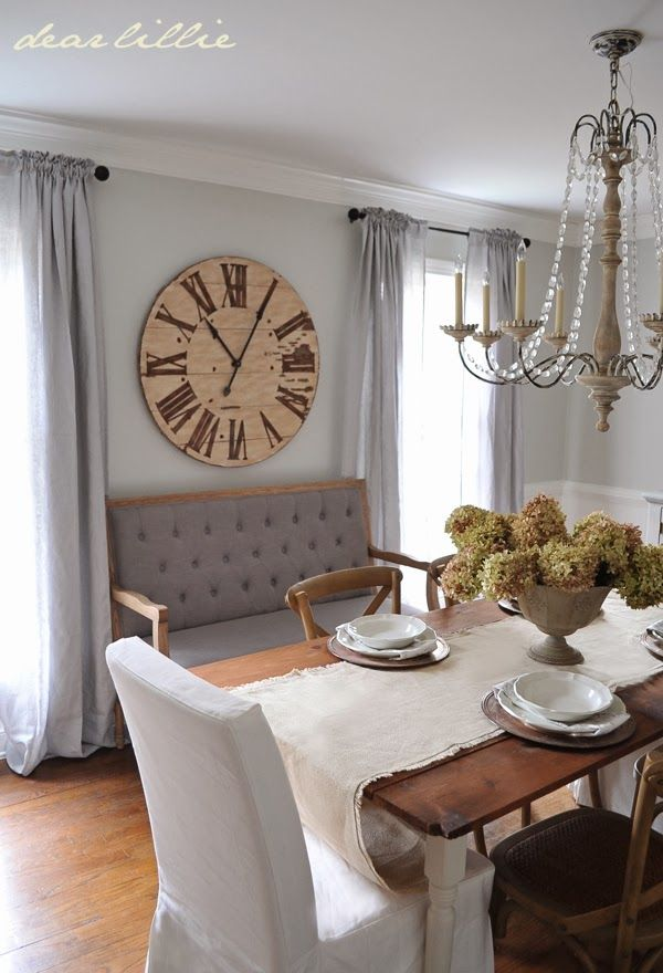 Darling dining room~ vintage touches and glamorous hues.